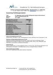 Evaluationsdaten 2007 als PDF - Kölner Therapietage