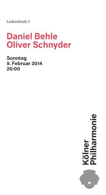 Programmheft herunterladen - Kölner Philharmonie