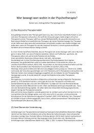 Skript zum Vortrag (PDF) - Kölner Therapietage