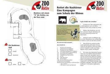 Rettet die Nashörner Eine Kampagne zum Schutz der Rhinos
