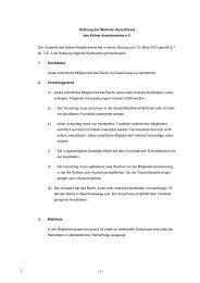 Ordnung zur Wahl der Ausschüsse des Kölner Anwaltvereins e.V. ...