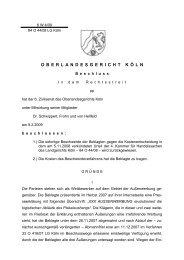 O B E R L A N D E S G E R I C H T K Ö L N - Kölner Anwaltverein