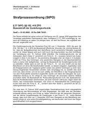 Strafprozessordnung (StPO) - Kölner Anwaltverein