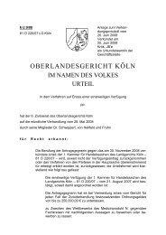 OBERLANDESGERICHT KÖLN - Kölner Anwaltverein