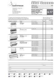 Rental refrigeration equipment and kitchen appliances
