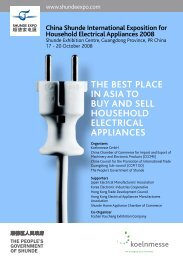 china shunde inTernaTional exPosiTion for household elecTrical ...