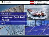 Investment Portfolio III Austria - König & Cie.