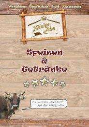 Speise- und Getränkekarte als PDF-Download - Königsalm