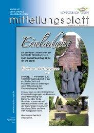 Amtsblatt Ausgabe 46/2013 - Gemeinde Königsbach-Stein