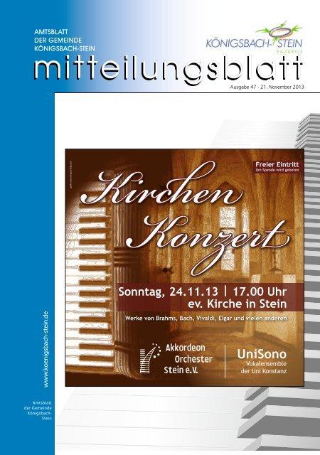 Amtsblatt Ausgabe 47/2013 - Gemeinde Königsbach-Stein