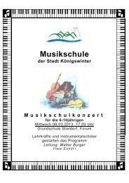 Musikschule - Stadt Königswinter