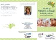 Der Baby- Willkommensbesuch in Königswinter - Stadt Königswinter