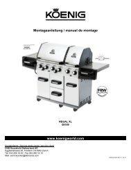 Montageanleitung / manuel de montage - Koenig