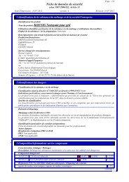 Fiche de données de sécurité · Nom du produit: KOENIG Nettoyant ...