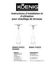 Instructions d'installation et d'utilisation pour chauffage de ... - Koenig
