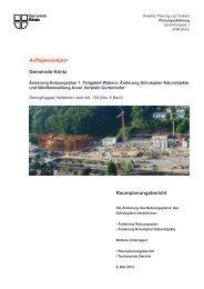 Auflageexemplar Gemeinde Köniz Raumplanungsbericht