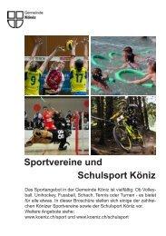 Sportvereine und Schulsport Köniz - Gemeinde Köniz