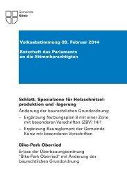 Abstimmungsbotschaft [PDF, 7.00 MB] - Gemeinde Köniz