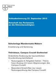 Abstimmungsbotschaft [PDF, 3.00 MB] - Gemeinde Köniz