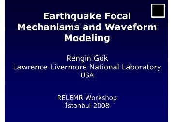 Earthquake Focal Mechanisms and Waveform Modeling