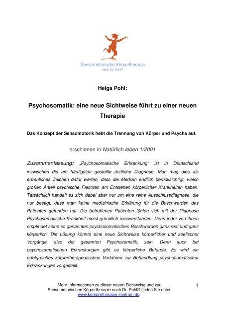 Pohl dr körpertherapie erfahrungen nach Erfahrungen zur