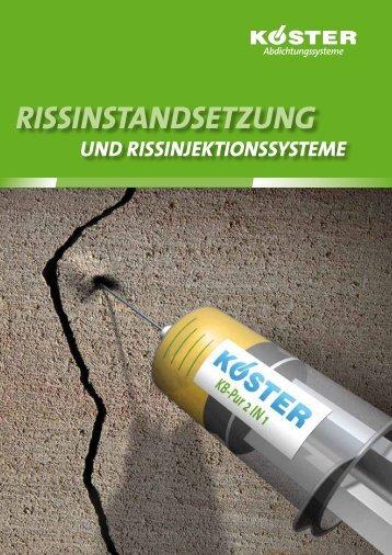 Rissinstandsetzung und Rissinjektion - Koester.eu
