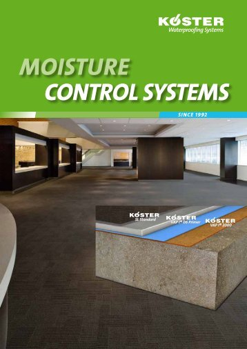 mOisture cONtrOl systems - Koster