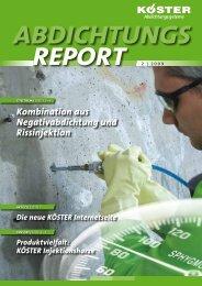 Abdichtungsreport 2/2009 - Koester.eu