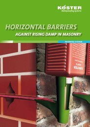 Horizontal BarrierS - Köster Bauchemie AG