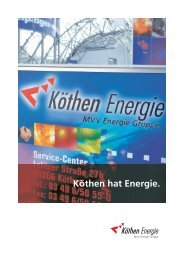 Imagebroschüre - Köthen Energie GmbH