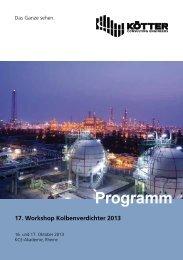 Programm Programm - KÖTTER Consulting Engineers
