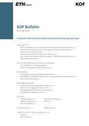 KOF Bulletin Nr. 51, April 2012 - KOF - ETH Zürich
