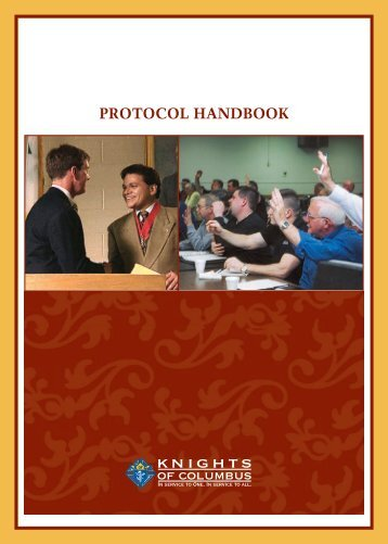 PROTOCOL HANDBOOK - Knights of Columbus, Supreme Council