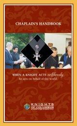 Chaplain's Handbook (#945) - Knights of Columbus, Supreme Council