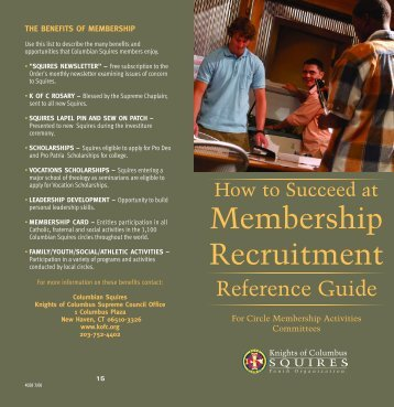 Recruiting Guide - Knights of Columbus, Supreme Council