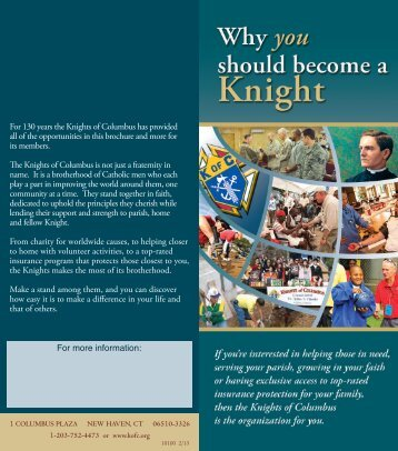 Why you should beCoMe a KnIght