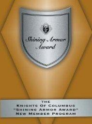 Shining Armor Award - Knights of Columbus, Supreme Council