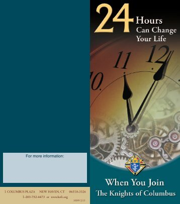 24 Hours Can Change Your Life flyer (#10099) - Knights of ...