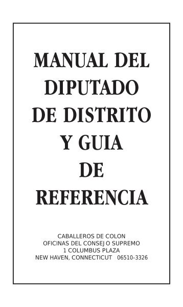 Manual del Diputado de Distrito - Knights of Columbus, Supreme ...