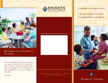 Family based flyer - Knights of Columbus, Supreme Council