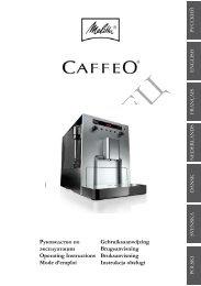 Инструкция к кофемашине Melitta Caffeo Bistro ... - КОФЕ-КОФЕ.ru