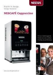 Nescafé Cappuccino Black Edition brochure - Koffieautomaat.nl