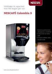 Nescafé Colombia S brochure - Koffieautomaat.nl