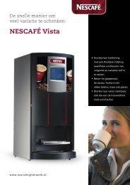 Nescafé Vista Quick brochure - Koffieautomaat.nl