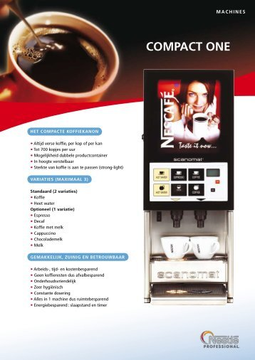 Compact One COMPACT ONE - Koffieautomaat.nl