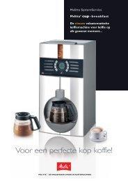 Melitta Cup Breakfast brochure - Koffieautomaat.nl