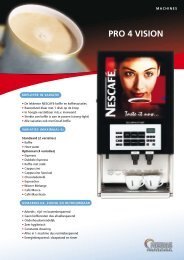 Compact One PRO 4 VISION - Koffieautomaat.nl