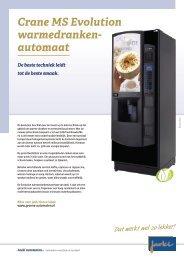 Crane MS Evolution warme dranken automaat - Koffieautomaat.nl