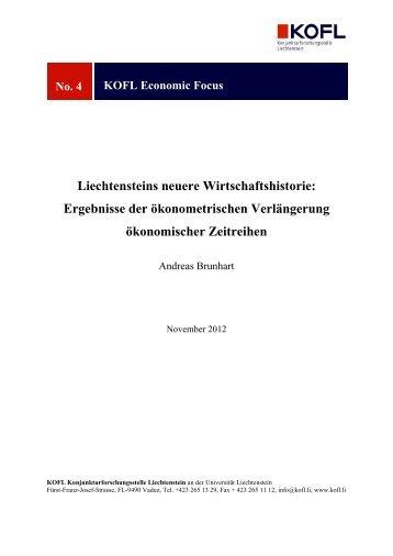Liechtensteins neuere Wirtschaftshistorie - KOFL