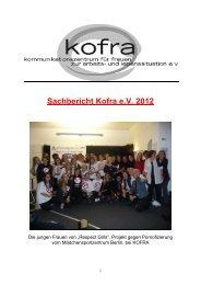 Sachbericht Kofra e.V. 2012